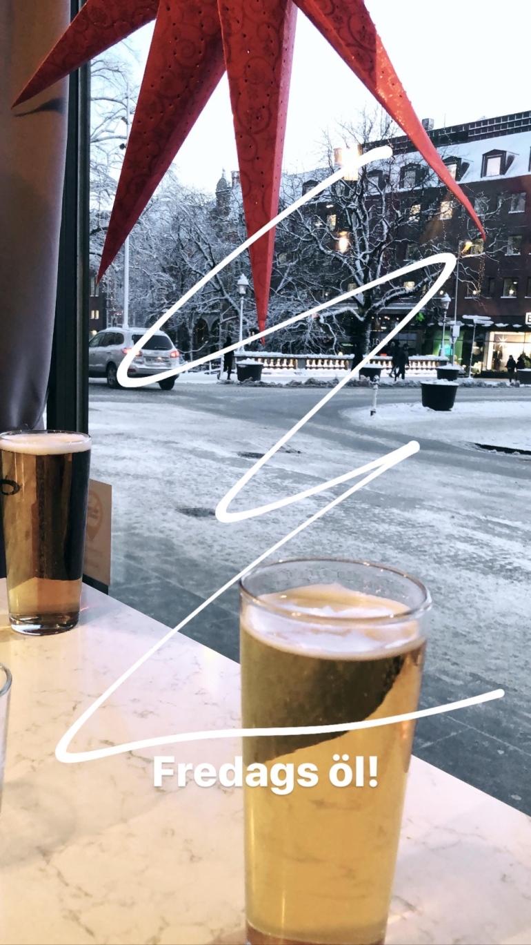 en snapchat bild på två glas öl av sebastian thorell
